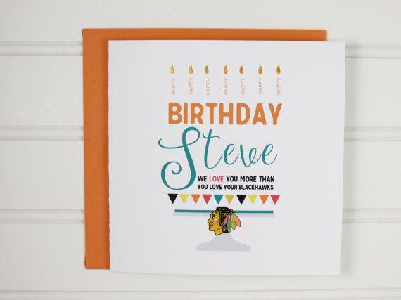 NHL Hockey Birthday Card Sports Fan Hockey Team Custom Birthday – Hockey Birthday Card