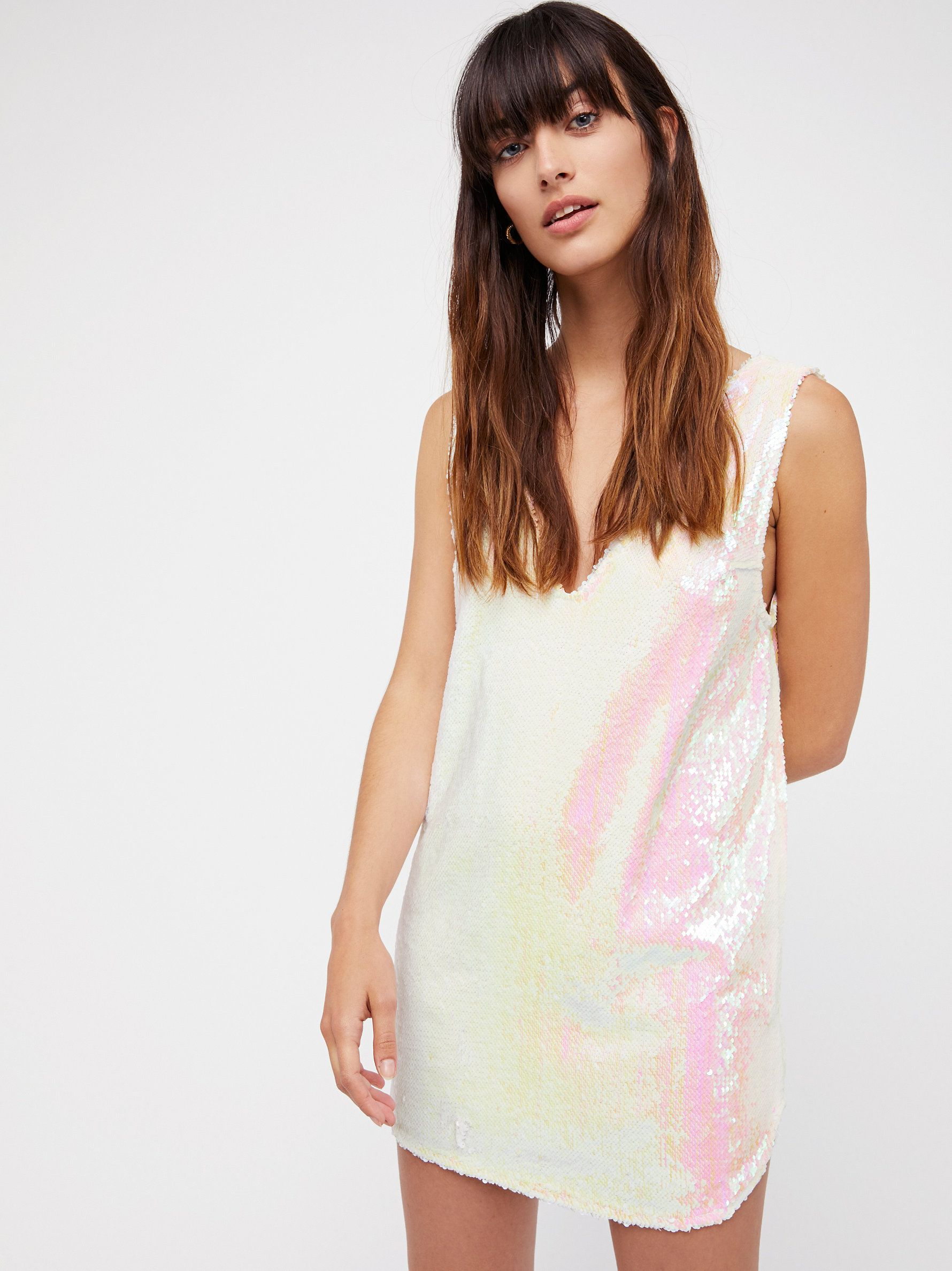 Embellished sequin shift slip simple shift slip featuring an ultra