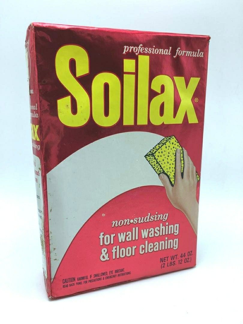 Soilax All Purpose Cleaner Ecolab 1960s 70s Box Vintage