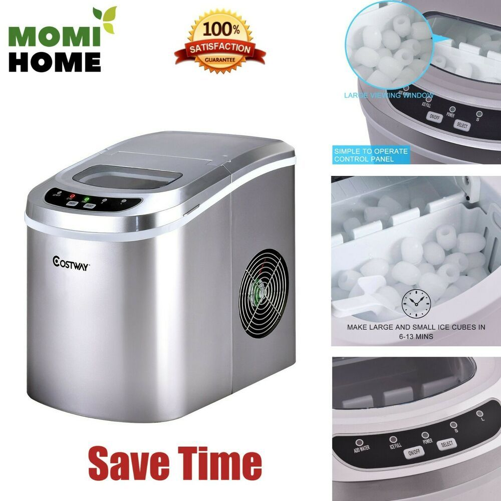 Portable Countertop Ice Machine Electric Ice Maker Small Mini Auto