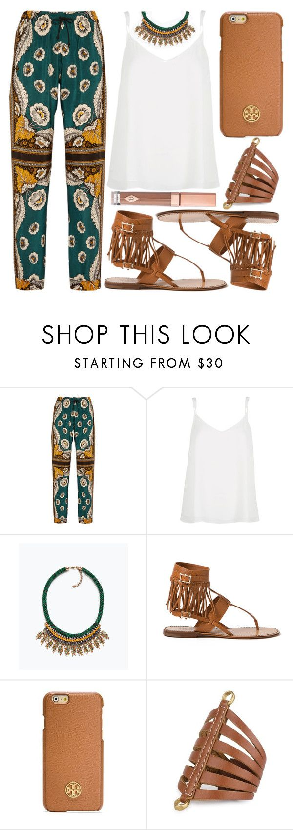 """""""street style"""" by sisaez ❤ liked on Polyvore featuring мода, Valentino, River Island, Zara, Tory Burch и Charlotte Tilbury"""