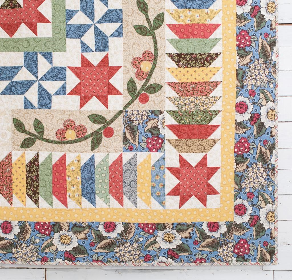 Course + Kit: 2016 Garden Charm Block Of The Month Kit - White ... : quilt of the month kits - Adamdwight.com