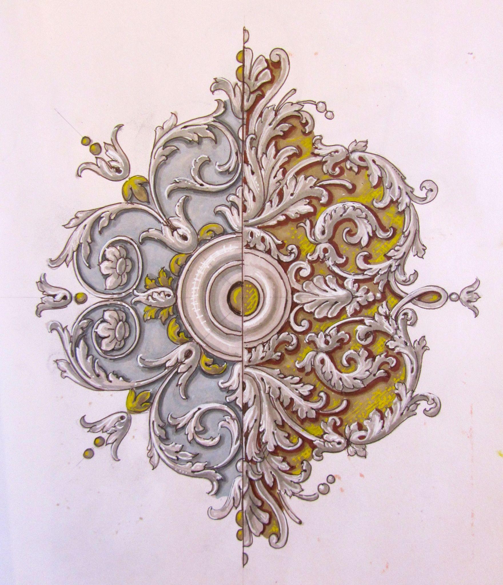 Ornato sketch decori konst for Arredamento artistico