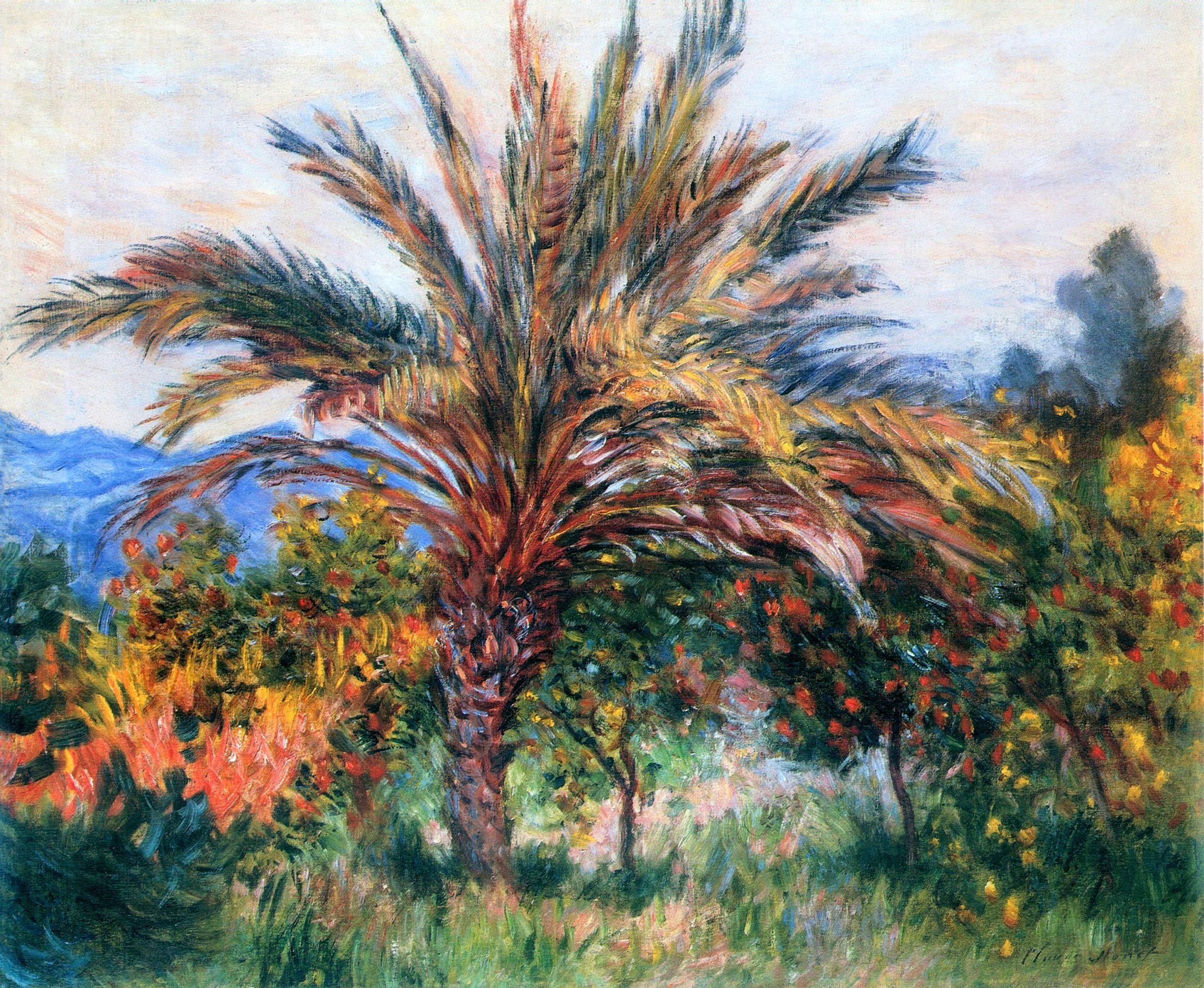 Palm Tree at Bordighera - Claude Monet | Monet art, Claude monet art,  Claude monet paintings