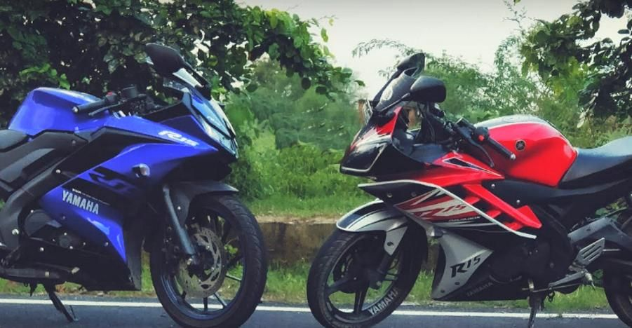 Yamaha R15 V2 0 Vs R15 V3 0 In A Classic Drag Race Who Wins