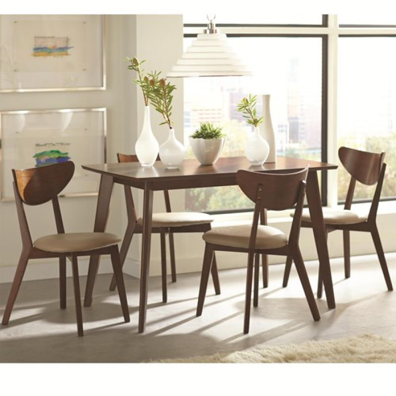 """CT1103061 Dining Set - $279.00 Dining Table 103061 : 29.5""""D x 47.25""""W x 30""""H Side Chairs 103062 : 17.5""""D x 20.25""""W x 31""""H"""