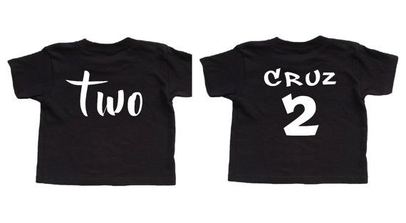 Two Shirt Personalized Birthday Custom Toddler Hipster Boy Second 2nd Bday