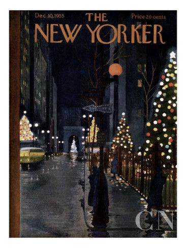 The New Yorker Cover - December 10, 1955 Poster Print by Alain at the Condé Nast Collection