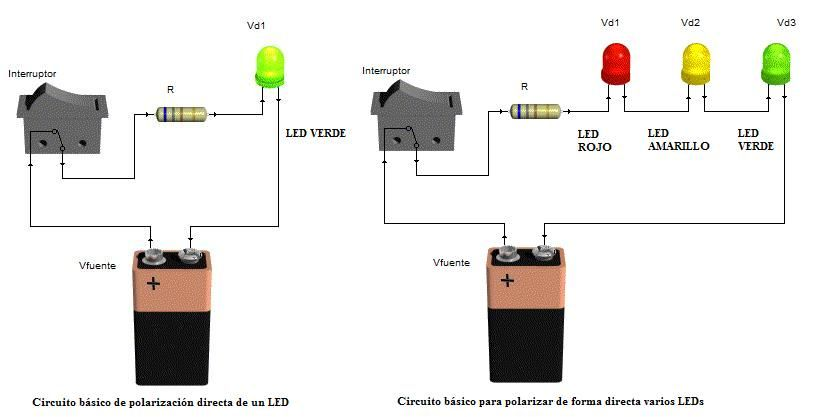 Encender Un Led Con Bateria 9v Buscar Con Google Led Alta Potencia Led Electrónica