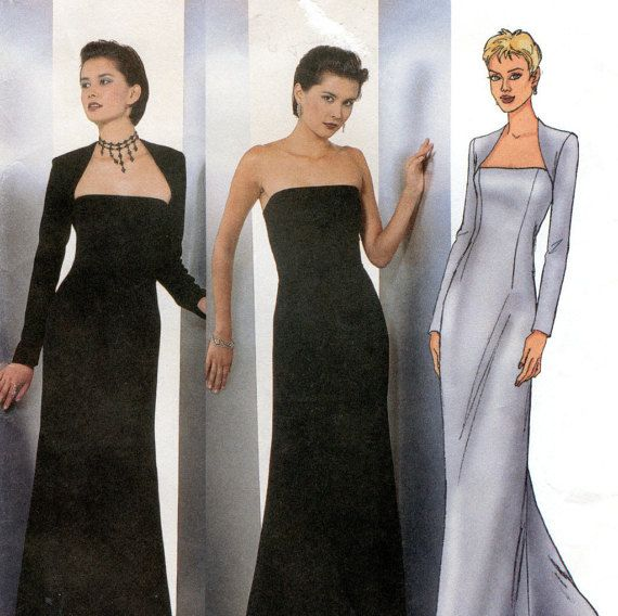 Butterick 6533 Evening Dress & Shrug Sewing Pattern / Gothic Style ...