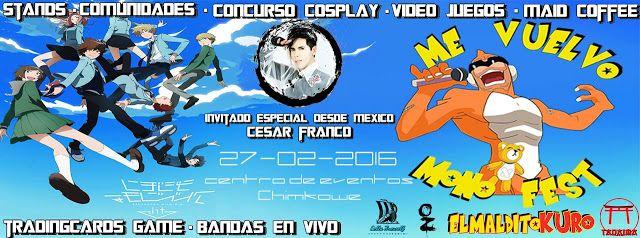 Kagi Nippon He ~ Anime Nippon-Jin: Me Vuelvo Mono Fest 2016 - Peñalolén, Chile, 27 de...