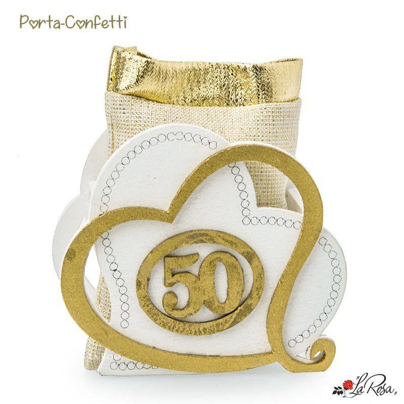 50esimo Anniversario Matrimonio.Sacchettino Portaconfetti 50esimo Anniversario Di Matrimonio