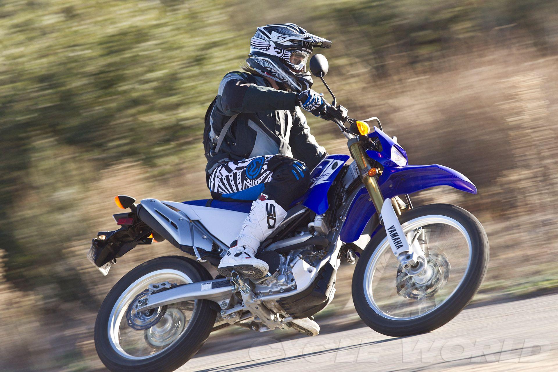 Yamaha WR250R action shot 3