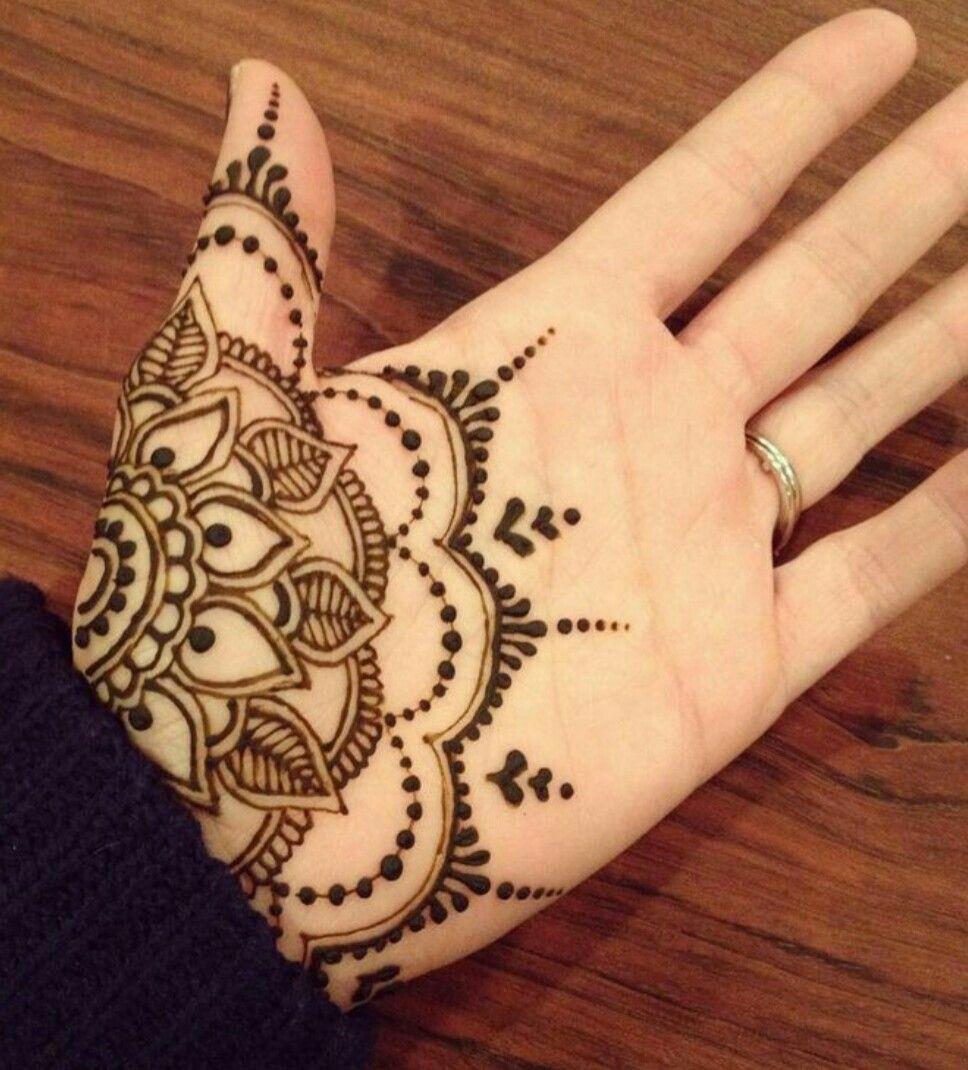Mehndi Designs On Palm : Nice mandala palm mehendi henna tattoos pinterest