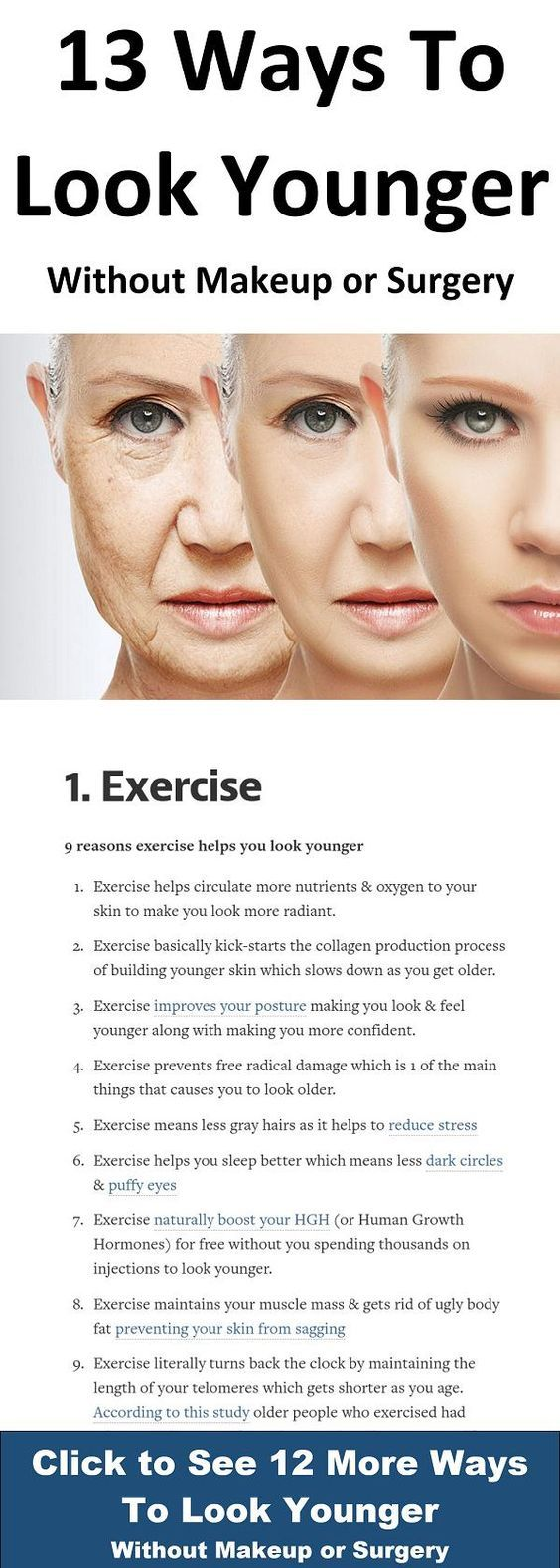 13 Ways To Look Younger Without Makeup Or Surgery Anti Aging Skin Products Sensitive Skin Care Aging Skin Care