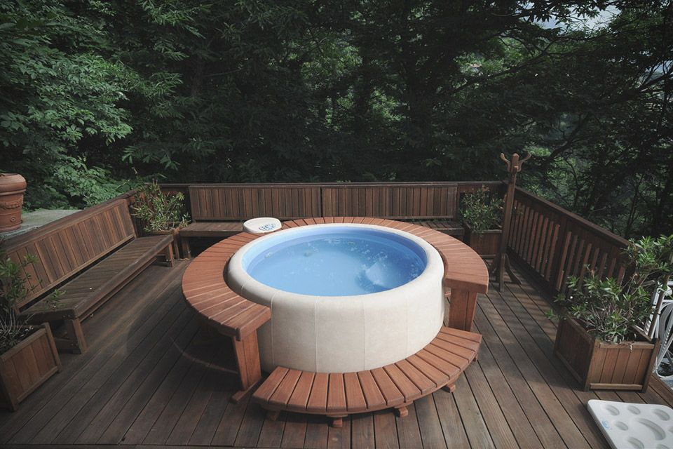 Adding a hot tub to your home can be a great choice - but also a big - jacuzzi exterior