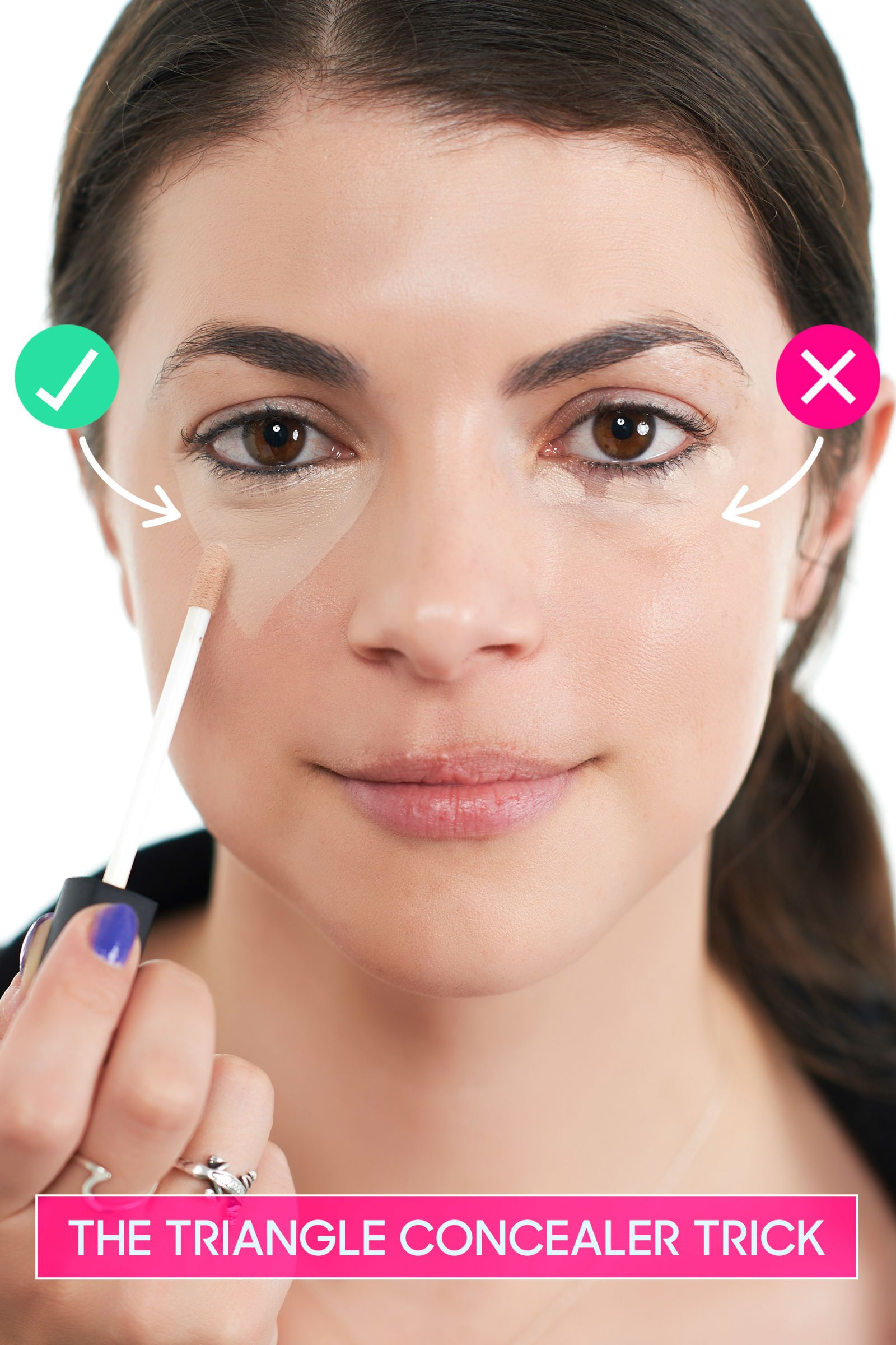 The Easy Concealer Trick That Brightens Up Your Face How