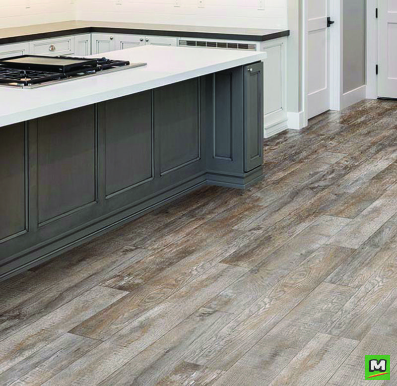 Hearthstone Oak Flooring By Mohawk Delivers Charm And Beauty With A Contemporary Rustic Flare The Patented L Vinyl Flooring Vinyl Wood Planks Mohawk Flooring