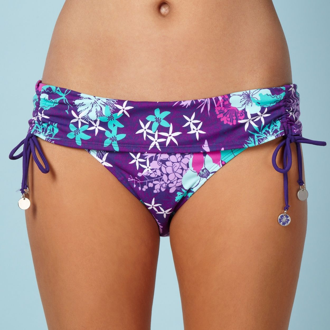 Mantaray Purple Floral Fold Bikini Bottoms At Debenhamscom My