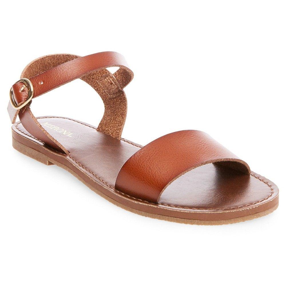 71c5034d499f Women s Magnolia Quarter Strap Sandals Merona - Cognac (Red) 9.5 ...