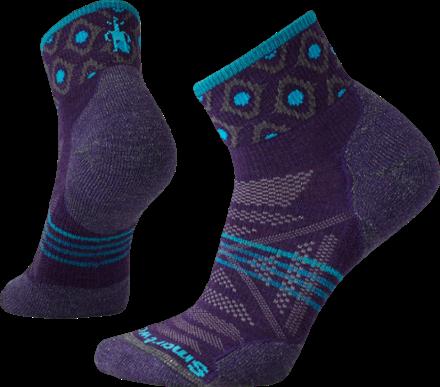 e40363de1 Smartwool Women's PhD Outdoor Light Pattern Mini Socks Mountain Purple L