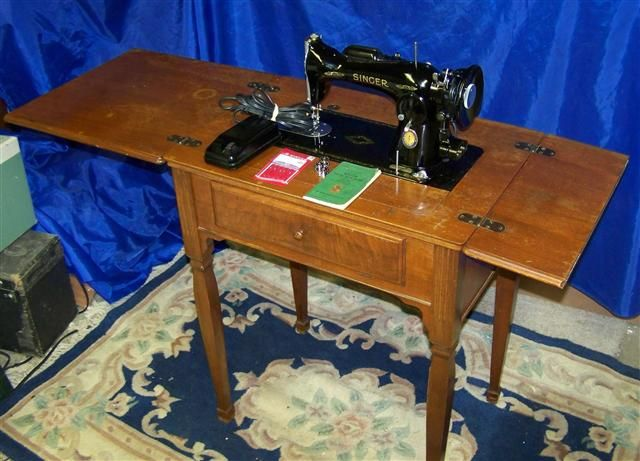 Antiques For Antique Singer Sewing Machine Table Value