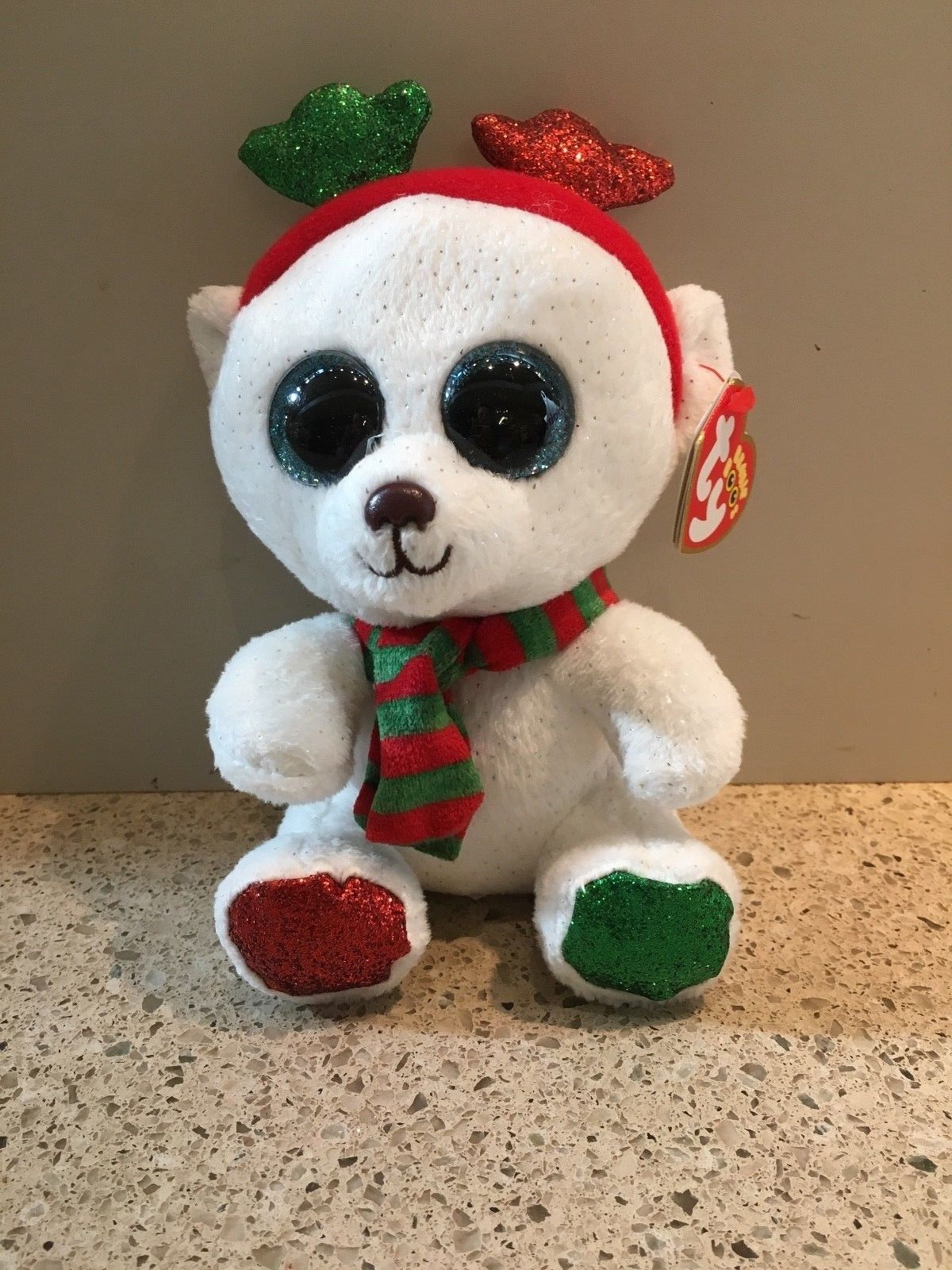 """Details about Ty Beanie Boo FROST the Polar Bear 6"""" Claire"""