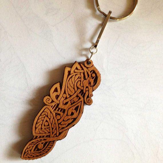 Celtic Dragon Keychain by AlaskaLaserMaid on Etsy, $5.00
