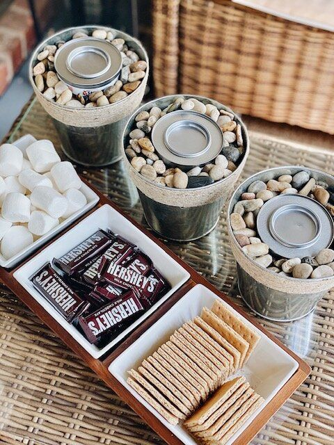 DIY Fire Bowl (mini fire pit) perfect for s'mores!   #smores#DIY  #summer