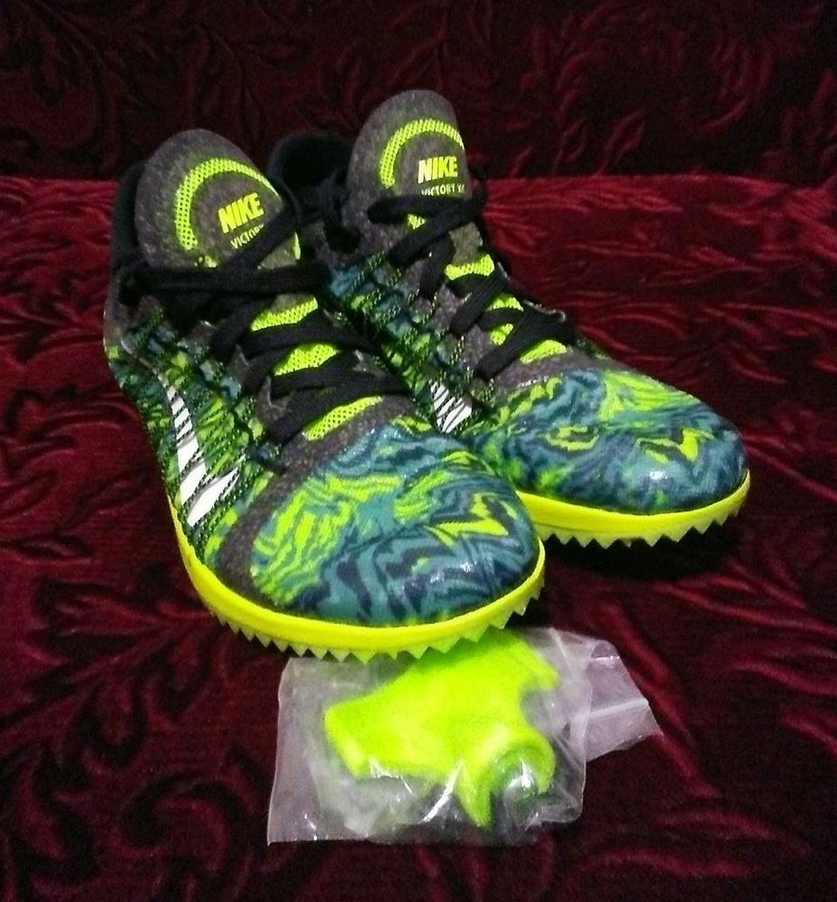 654693-007 Nike Zoom Victory XC 3 Blk Green Camo Track Spikes Mens Size d216cf2d8