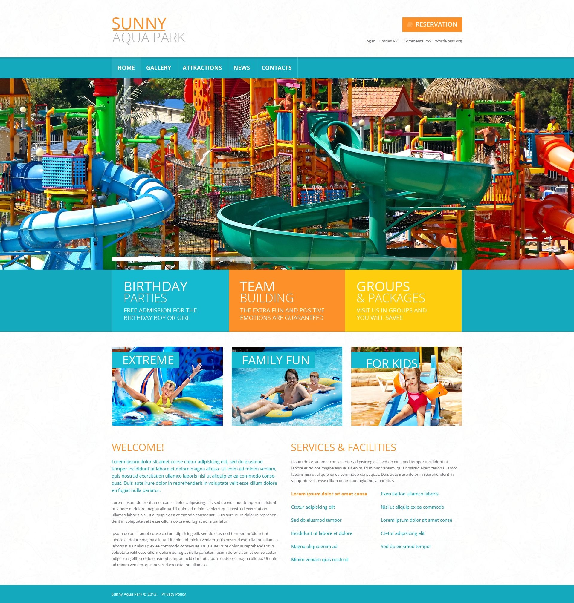 Entertainmentusement park template wordpress theme wordpress amusement park template wordpress theme 49450 maxwellsz