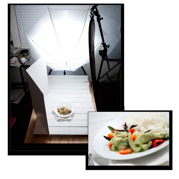 food photography lighting setup