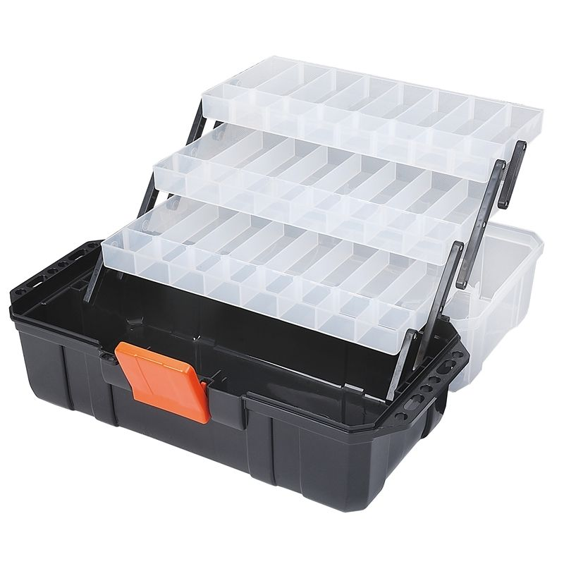 Find Tactix 3 Layer Cantilever Tool Box Multifunction at