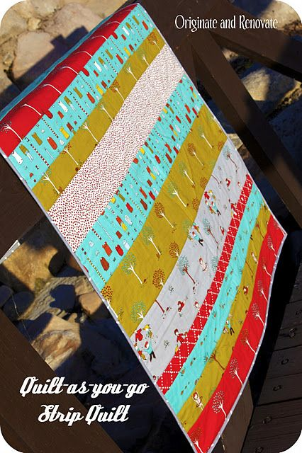 Great Tutorial On How To Make A Strip Quilt Want To Make
