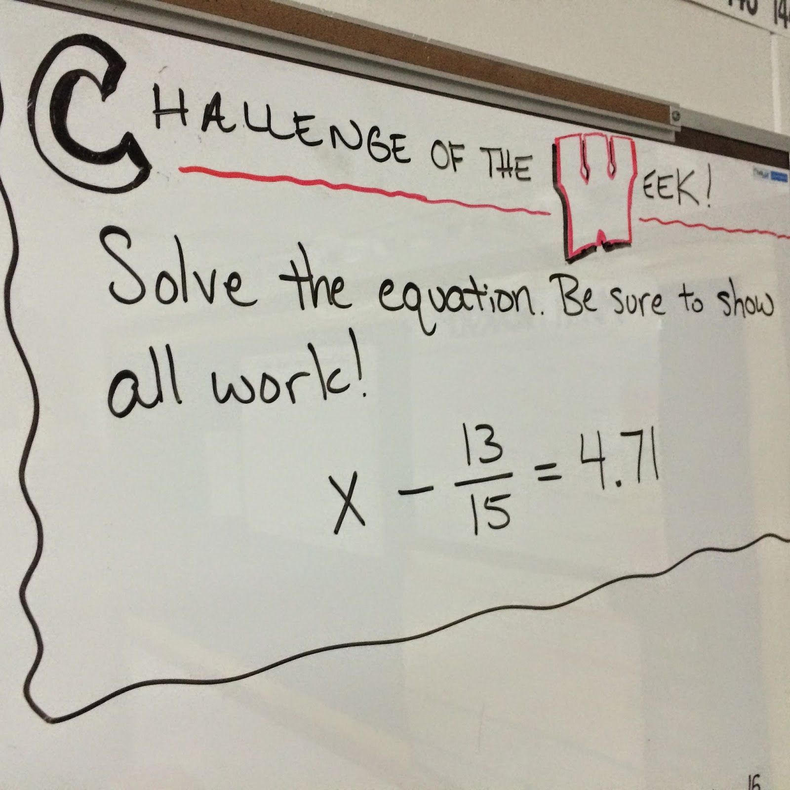 Challenge of the Week | School | Math challenge, Math ...