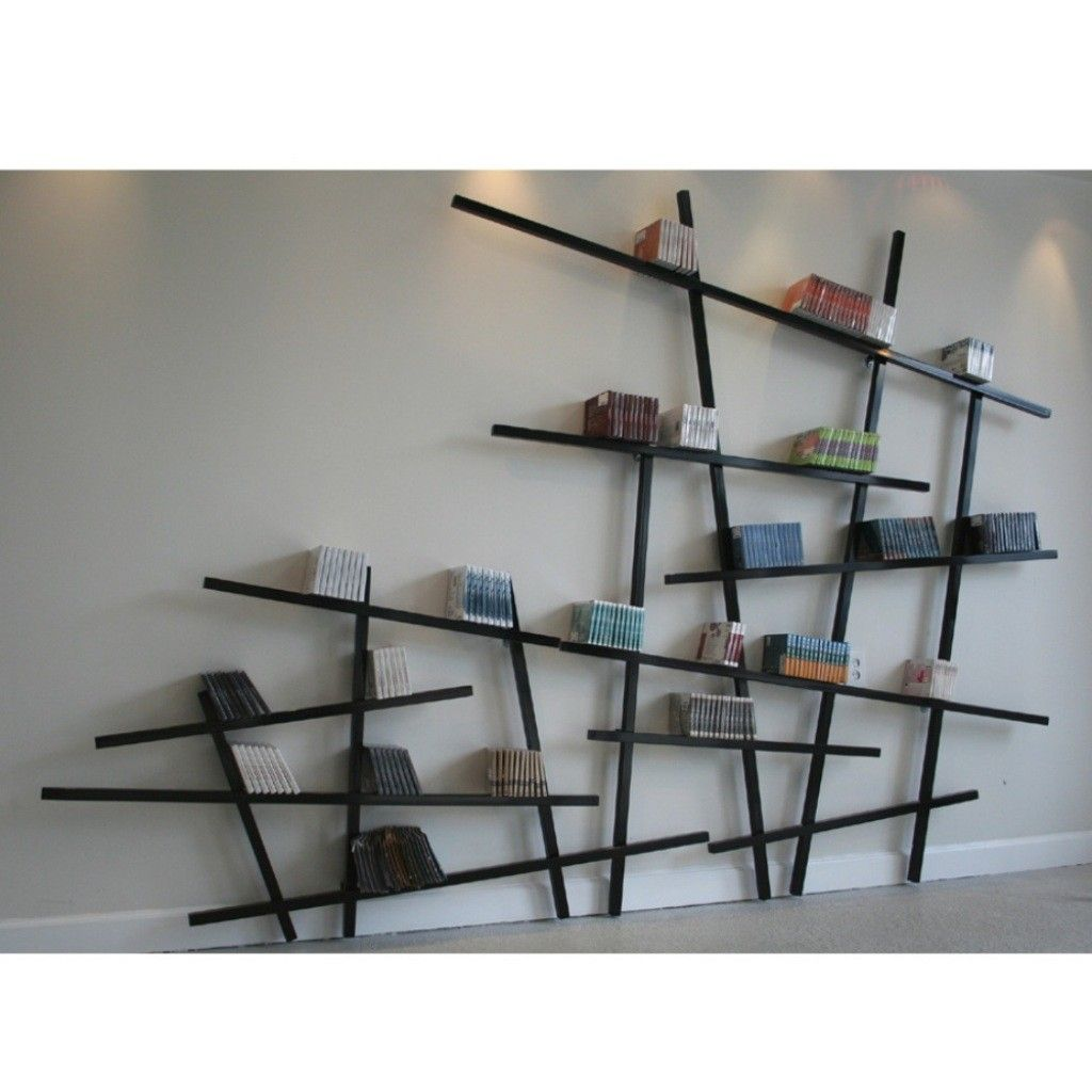 divine innovative design with unique bookshelf idea made from wood materials plus irregular shape wall mounted cool and unique design of bookshelves with