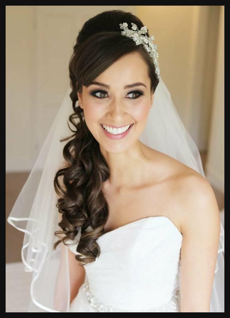Brautfrisuren Mit Schleier Lange Haare Haarschnitte Beliebt In Europa