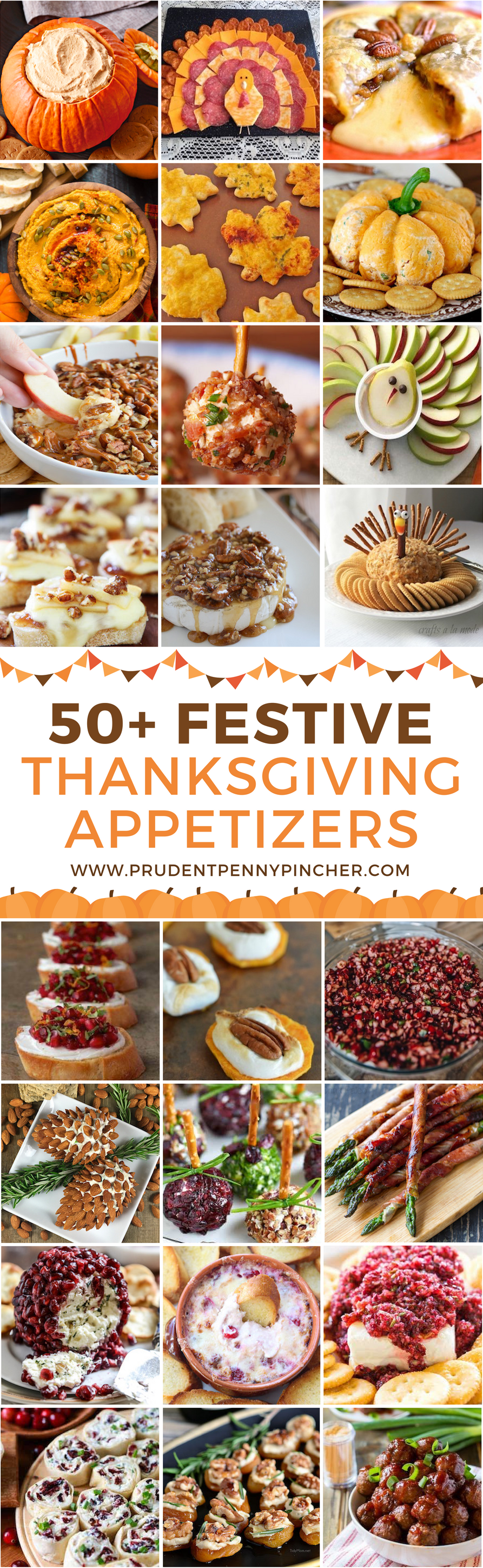 50 Festive Thanksgiving Appetizers #thanksgivingrecipes
