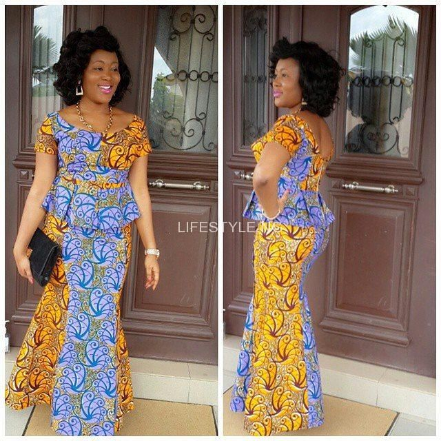a0f7e38f3ad2b0 9 Latest Nigerian Traditional Skirt and Blouse Styles.   slit and ...