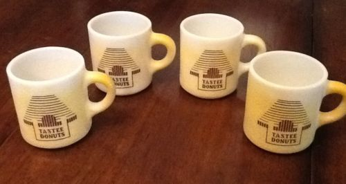 4 Vintage New Orleans Tastee Donuts Coffee Mugs Cups Restaurant White Glass Sold 1 cup for $9.99. Relisted other 3 separately.