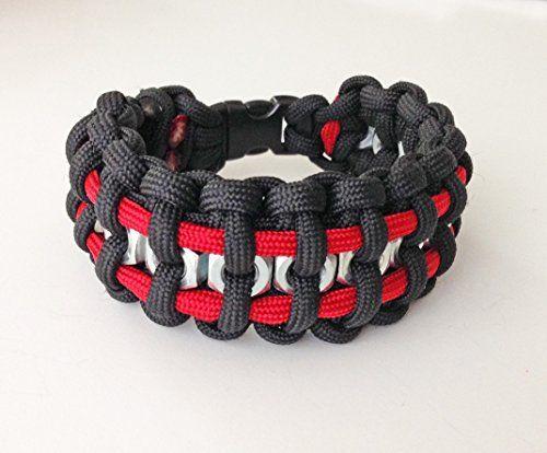 Paracord Survival Bracelet With Hex Nuts Paracord Bracelets