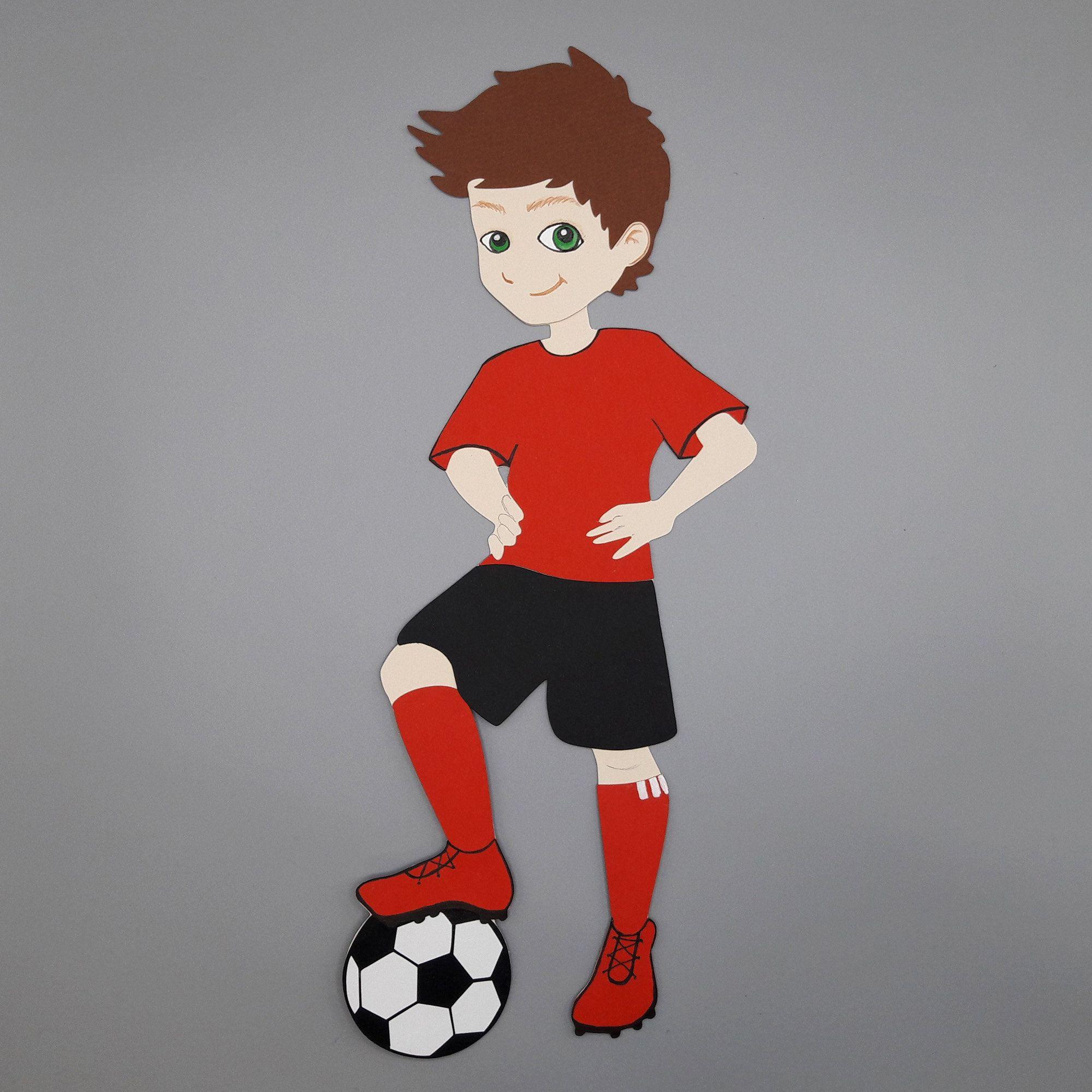 Fussballspieler Fussballer Motiv Schultute Jungen Fussball