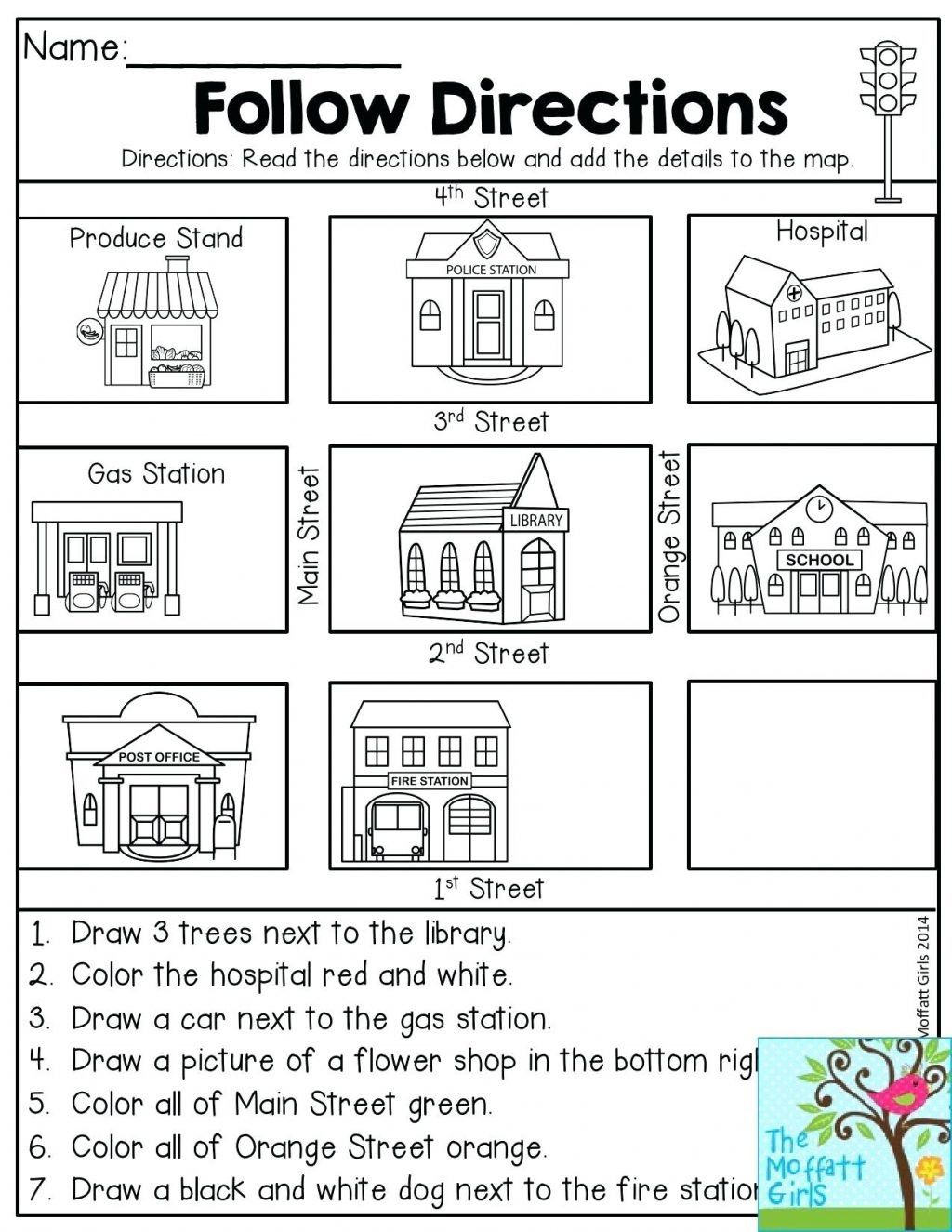 5 First Grade Map Worksheets Printable In