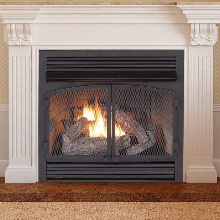 Admirable Vent Free Recessed Natural Gas Propane Fireplace Insert In Interior Design Ideas Skatsoteloinfo