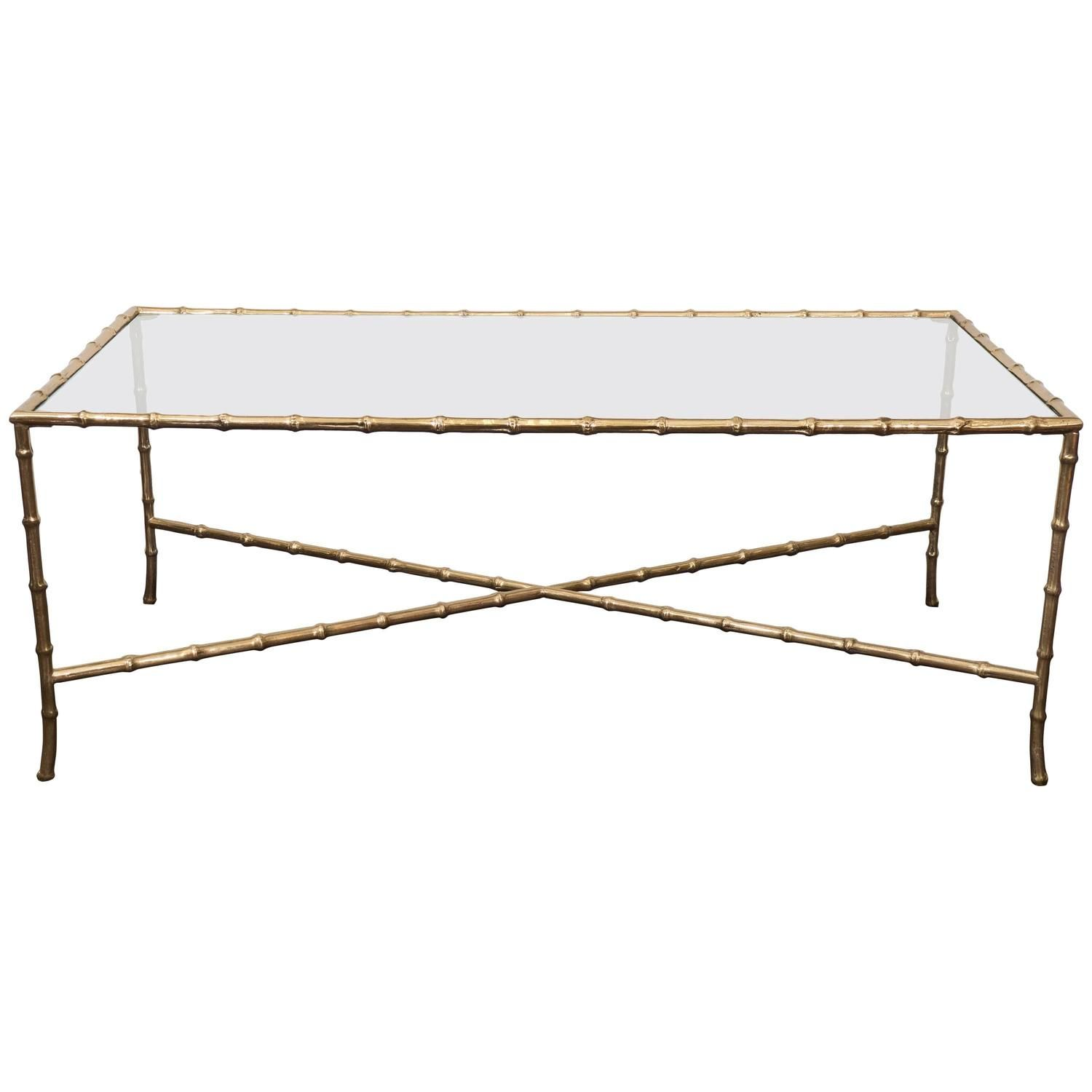 Mid Century Brass Faux Bamboo Coffee Table By Maison Bagues Bamboo Coffee Table Faux Bamboo Coffee Table [ 1500 x 1500 Pixel ]