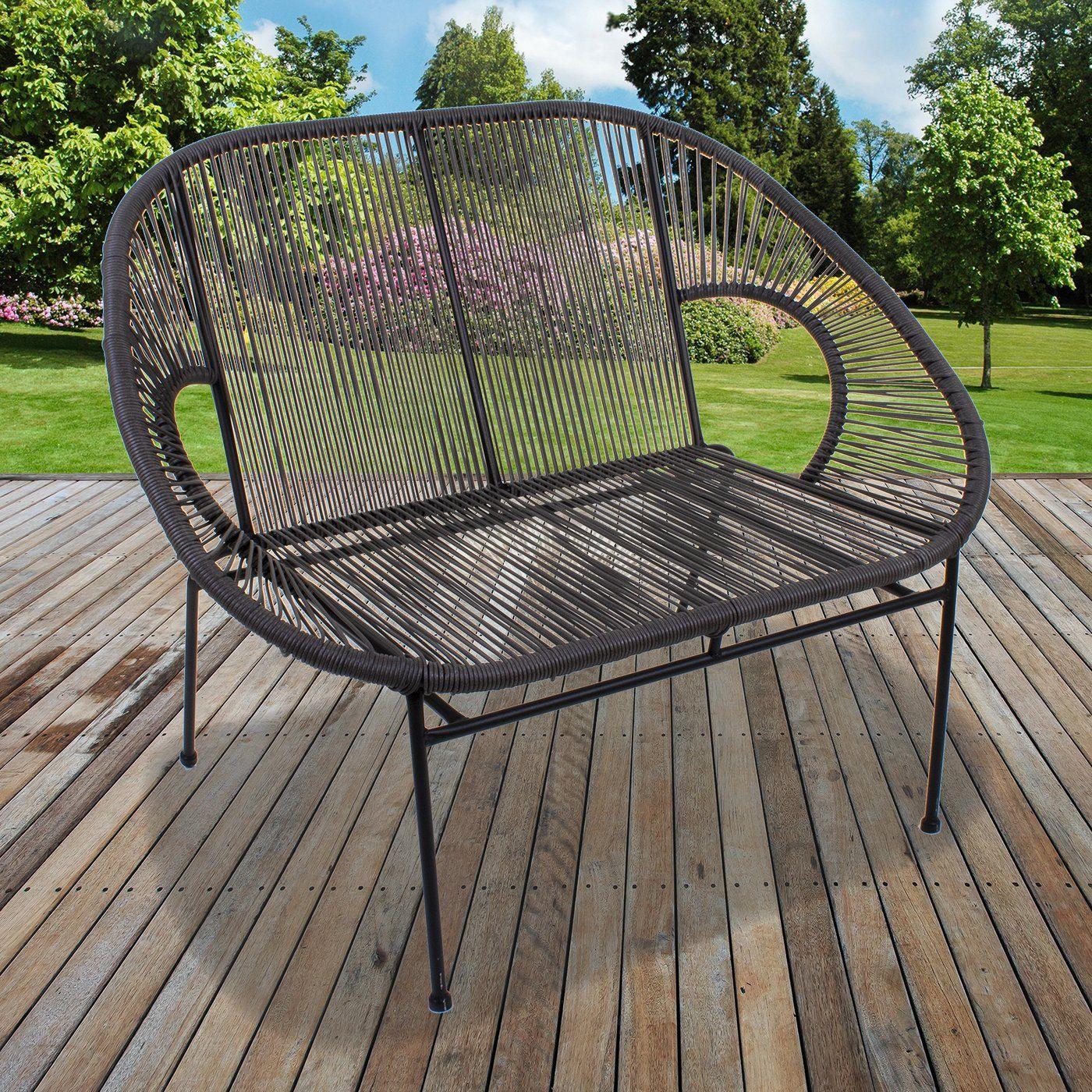 Rattan Bench - Grey in 2020 | Rattan, Bench, Outdoor