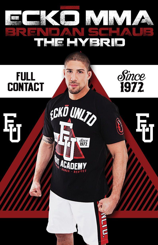 Ecko MMA Mens Wrecking Crew T-Shirt bjj ufc MMA Mens Black