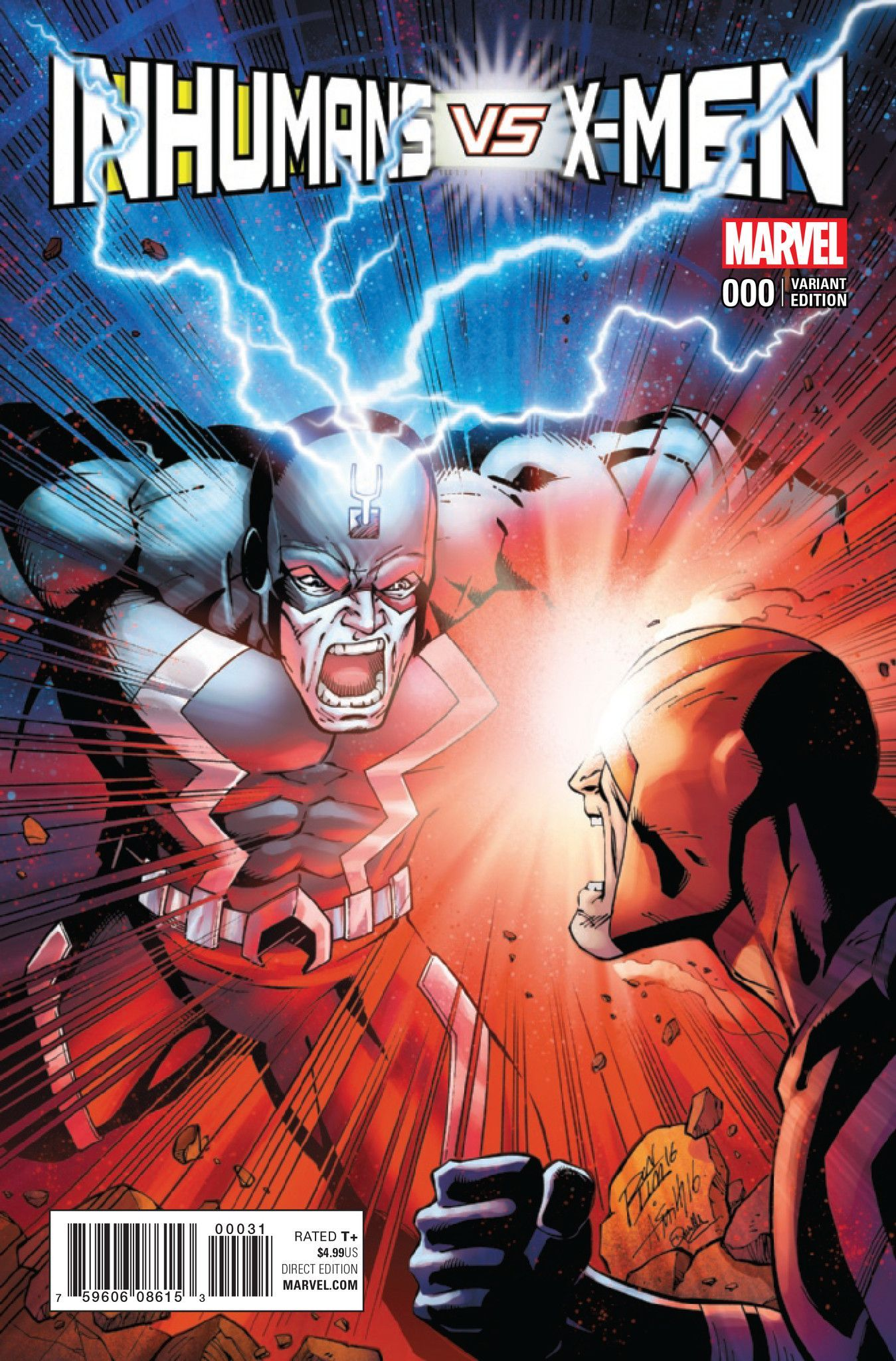 Inhumans Vs X Men Ivx 0 Variant Marvel Inhumans Black Bolt Marvel Marvel