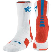 75b21b889f1 Nike KD Elite Crew Basketball Socks White Orange  blue