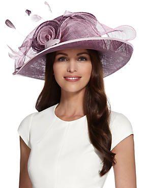 7023b736b3a7c Lilac Mix Big Rose   Mesh Wide Brim Hat